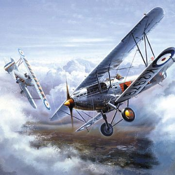 "BIRTHDAY CARD ""WW1 BRITISH BI-PLANES"" LARGE SQUARE SIZE 6.25"" x 6.25"" BLHI 1059"